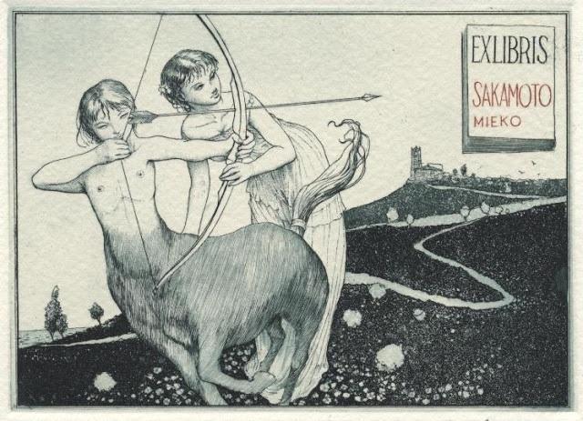 Alphonse Inoue Female centaur and a girl