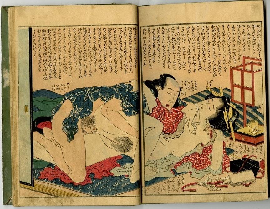 anal intercourse erotic art Hokusai