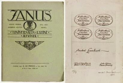 andre lambert The cover of 'Janus