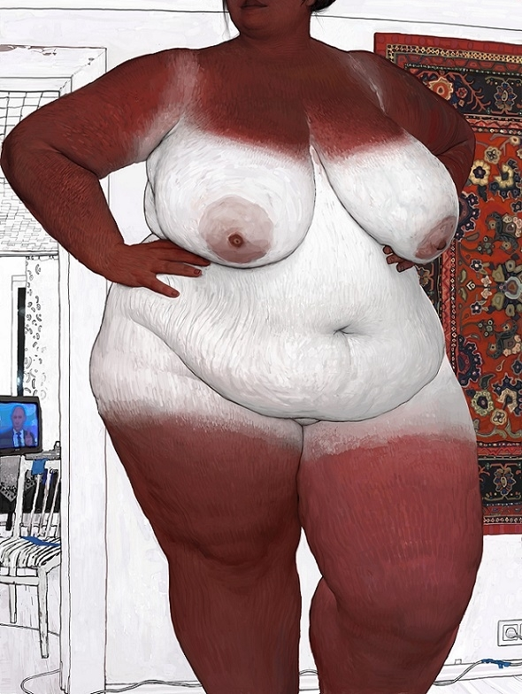 Andrey Surnov fat nude art