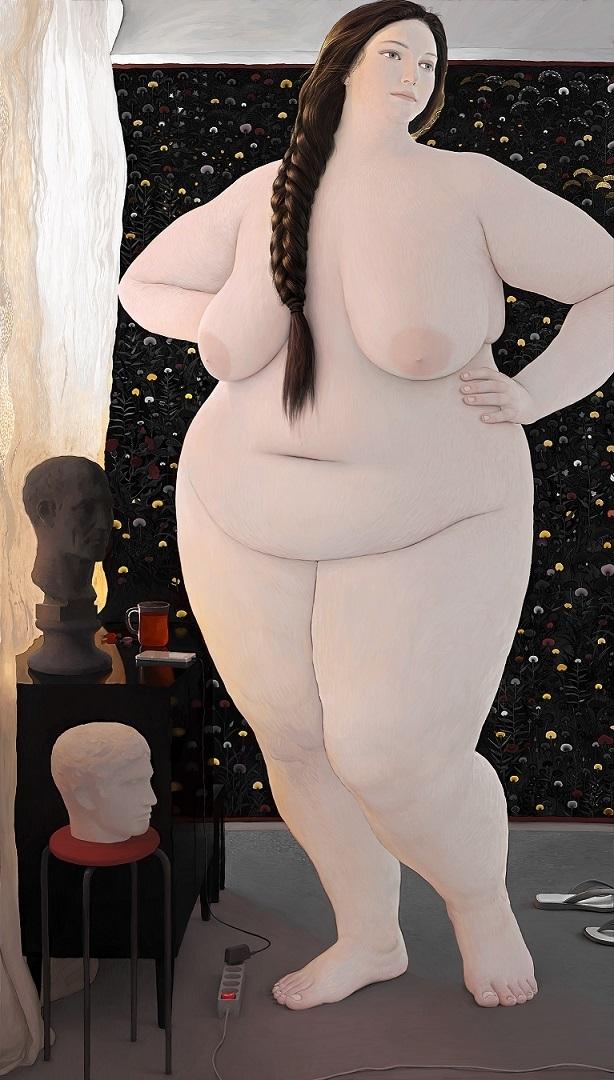 Andrey Surnov posing chubby nude