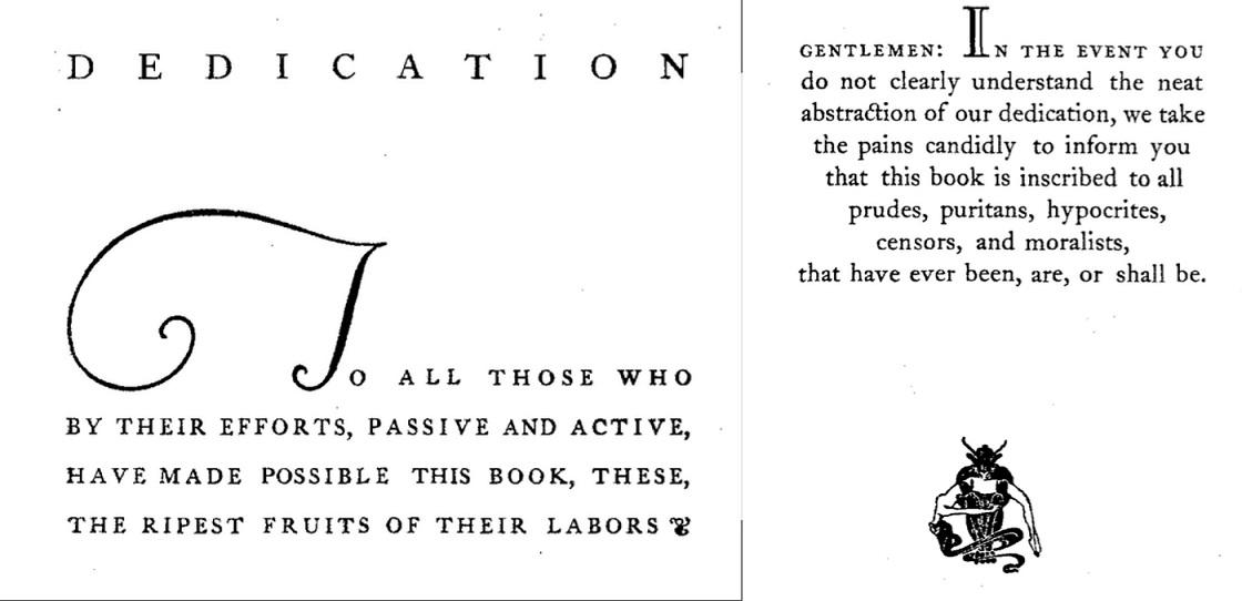 Anecdota Americana dedication