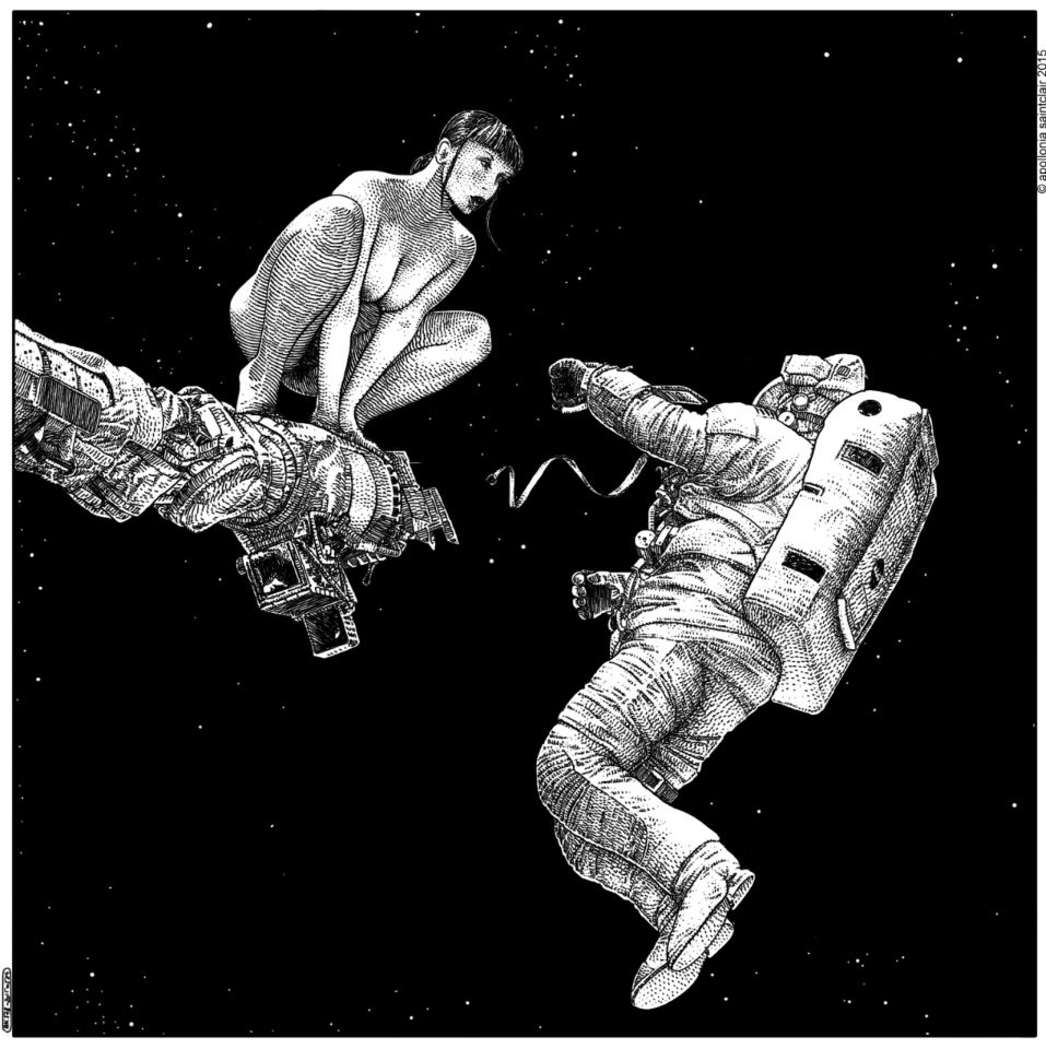 Apollonia Saintclair astronaut and nude