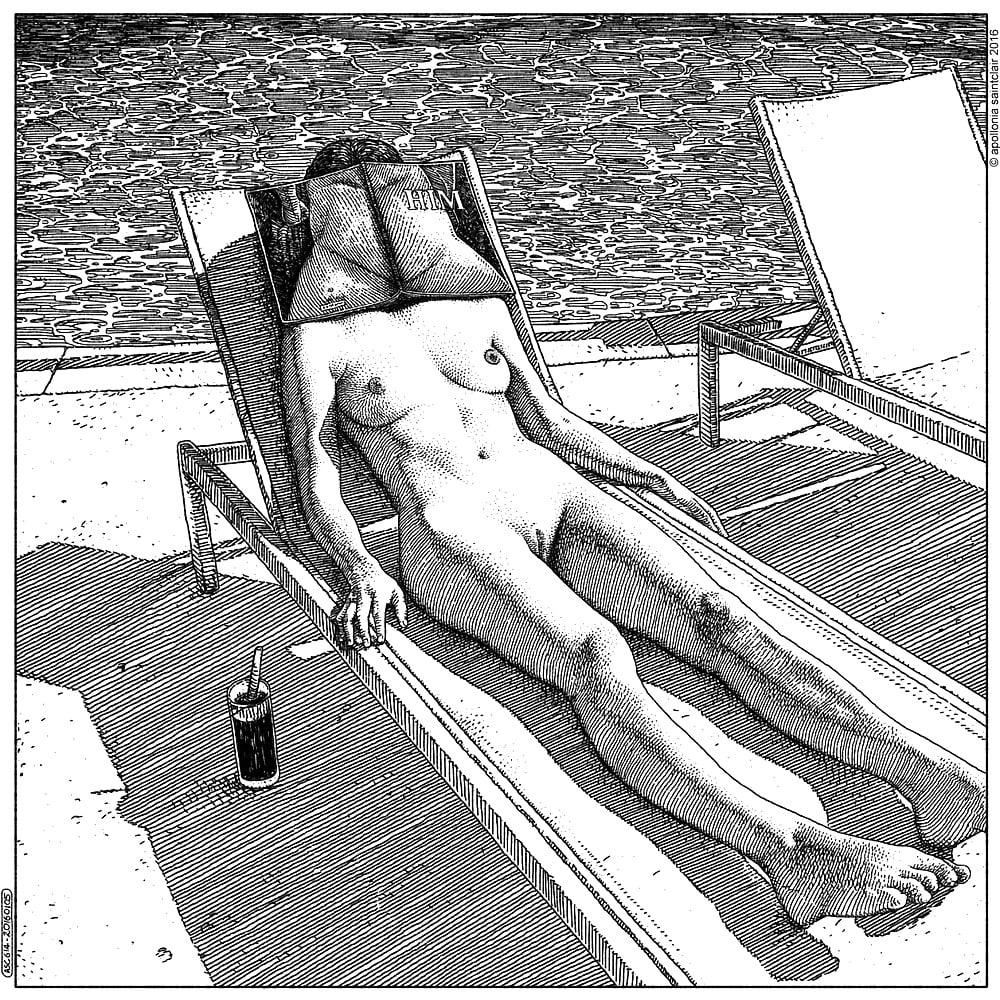 Apollonia Saintclair bathing nude female