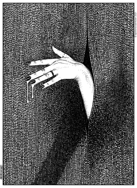 Apollonia Saintclair hand with semen