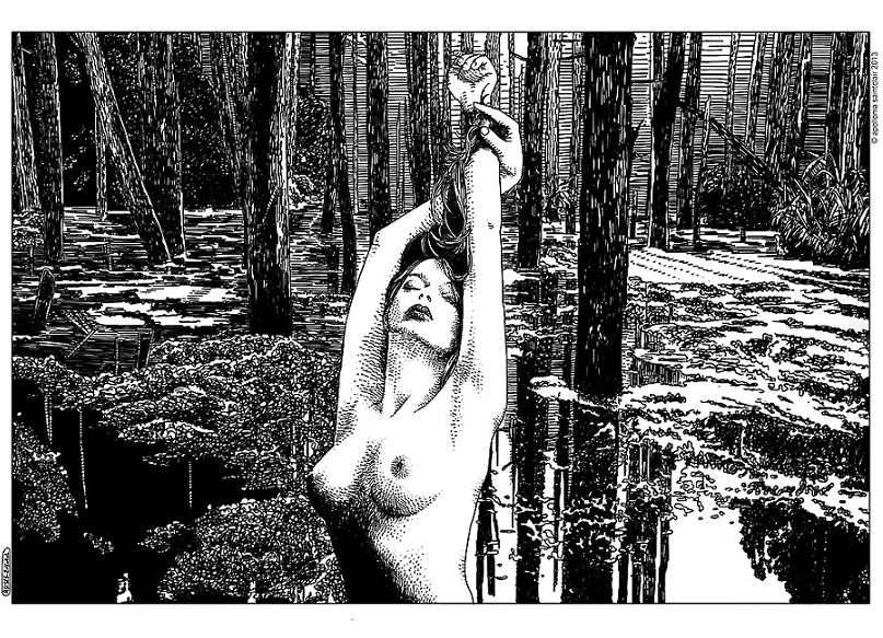 Apollonia Saintclair nude in the forest