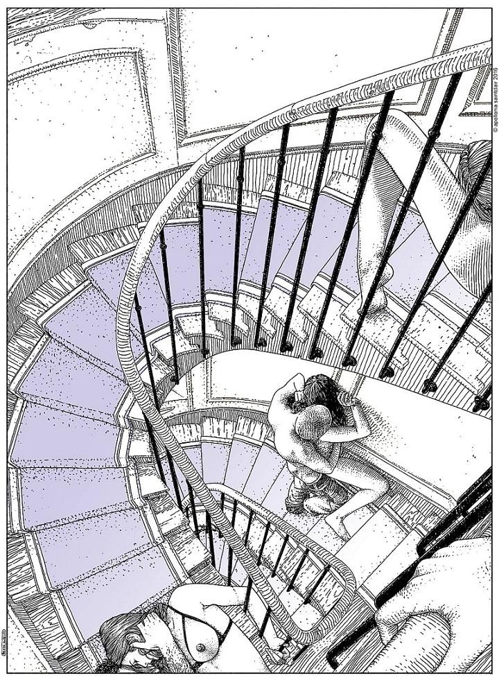 Apollonia Saintclair sex in the staircase