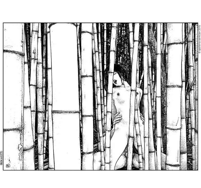 Apollonia Saintclaire nude bamboo girl