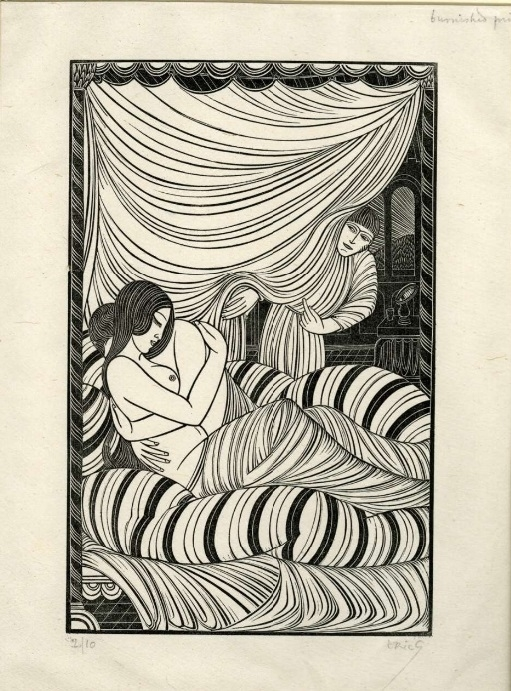 Approaching Dawn by Eric Gill
