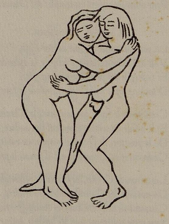 aristide maillol Embracing nude couple