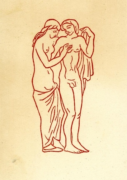 aristide maillol Nude young couple;