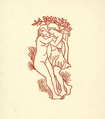 aristide maillol Young couple on grass