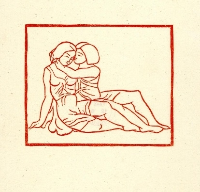 aristide maillol Young man and woman embracing Maillol