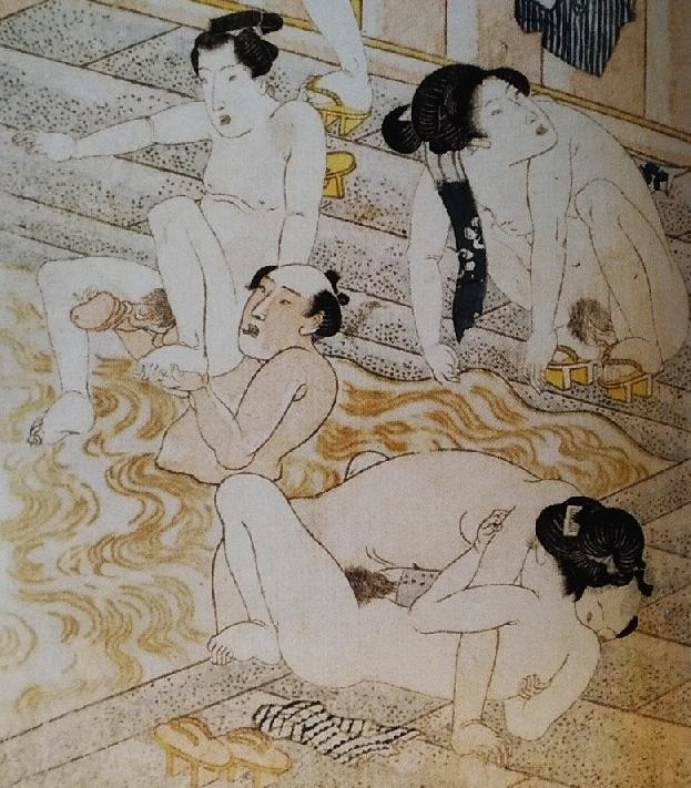 bathhouse shunga kunisada detail