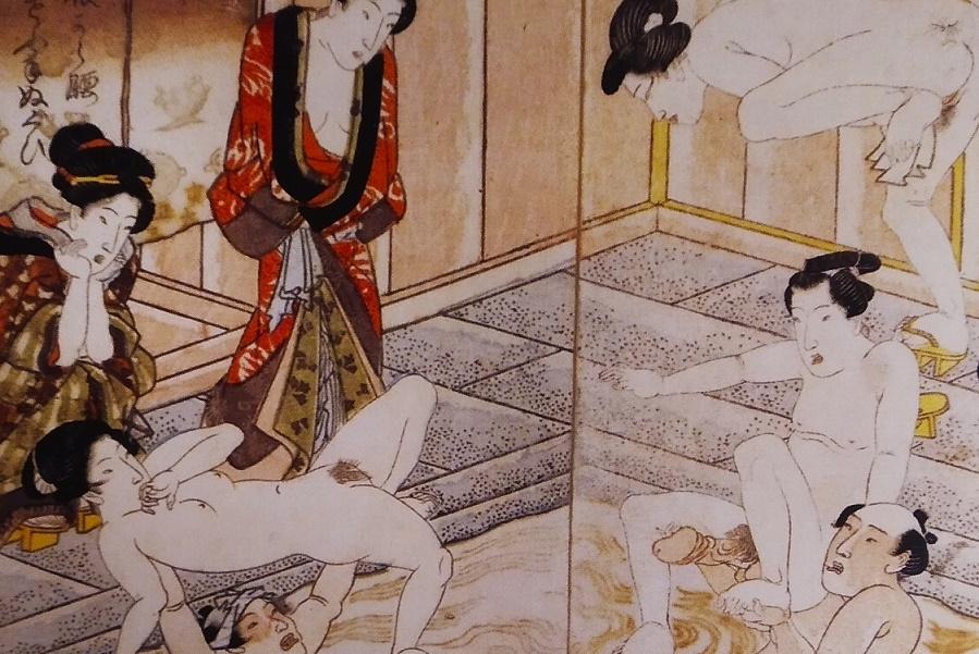 bathhouse triptych detail