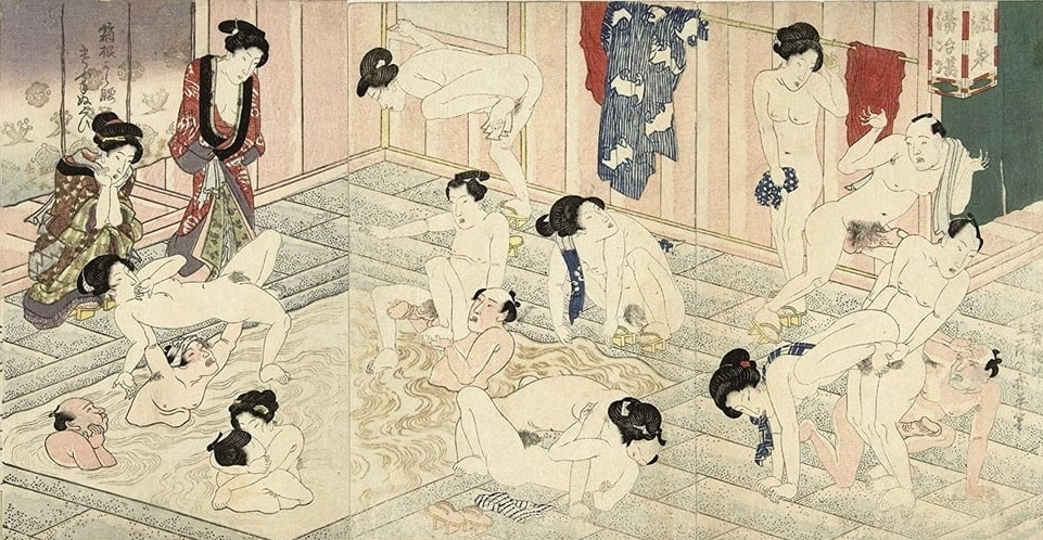 bathhouse triptych print