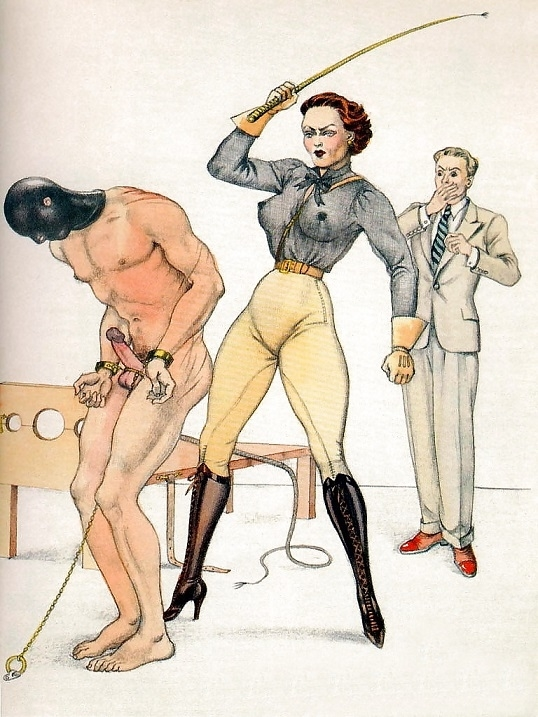 Bernard Montorgueil masked slave