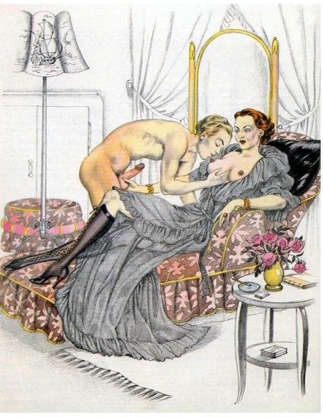 Bernard Montorgueil spanking art