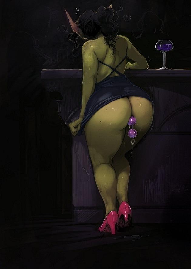 big butt goblin tryin to order a drink alexis flower
