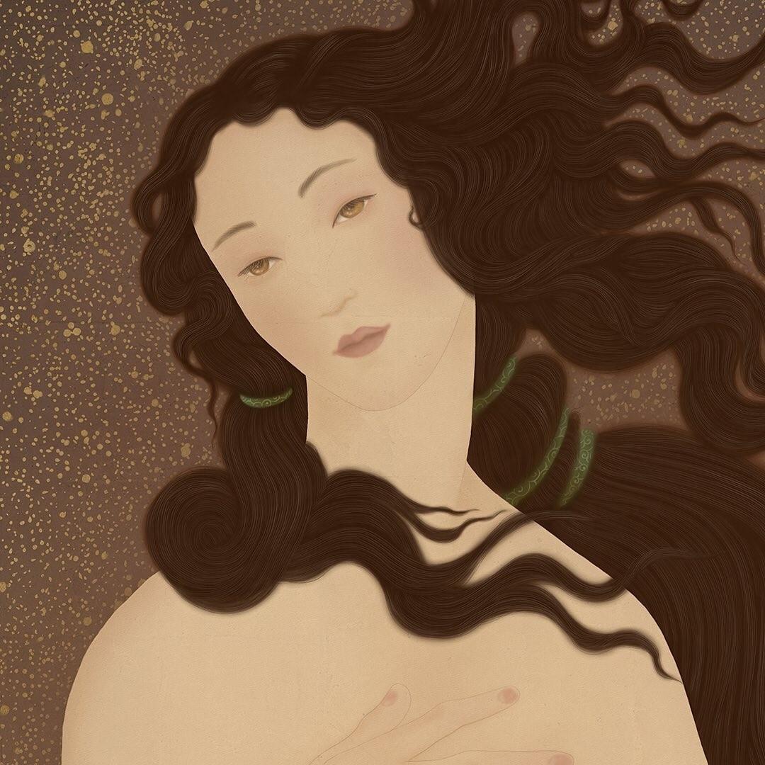botticelli-senju-shunga-venus-face