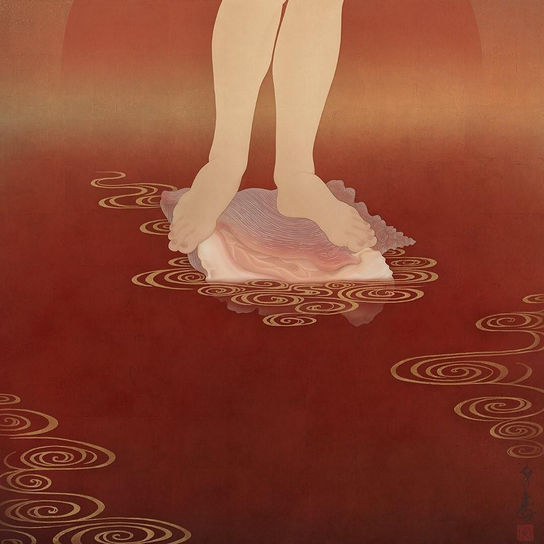botticelli-senju-shunga-venus-feet