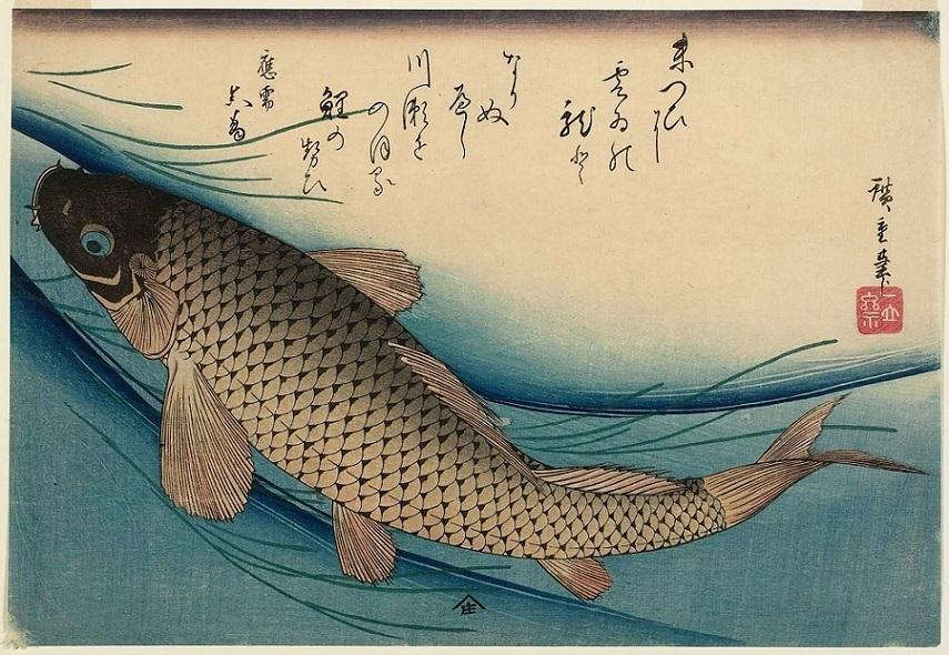 Carp Print Large Fish Hiroshige