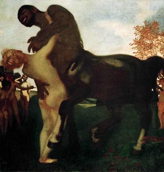 centaur and nymph franz von stuck