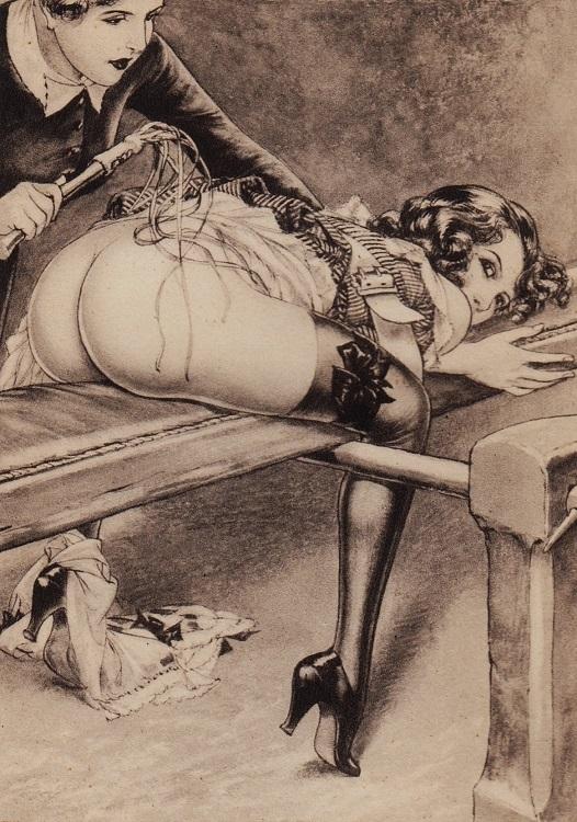 Cheri Herouard spanking girl