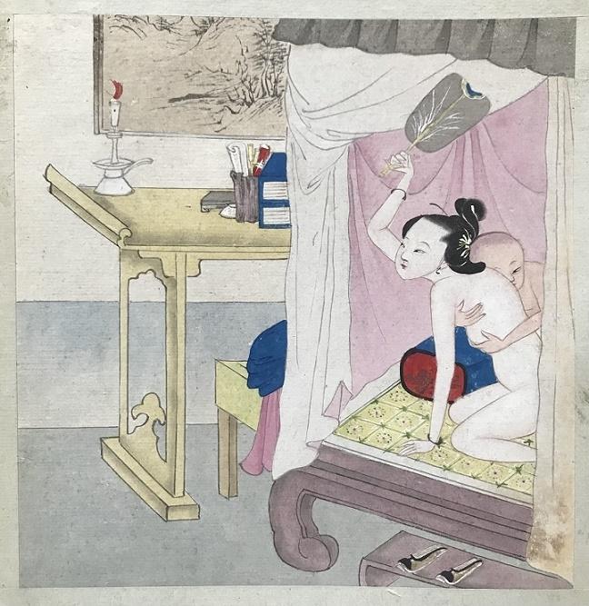 Chinese erotic art painting