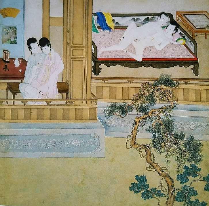Chinese erotic painting intimate couples
