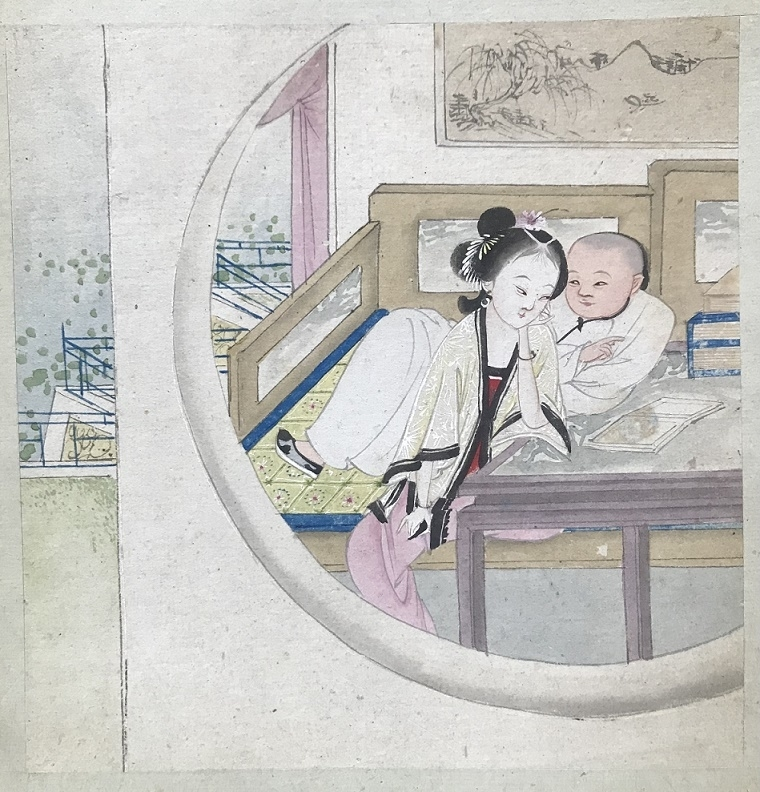 Chinese erotic painting Moon Gate