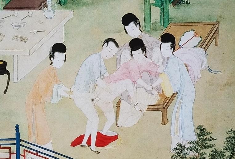 Chinese erotic painting orgy