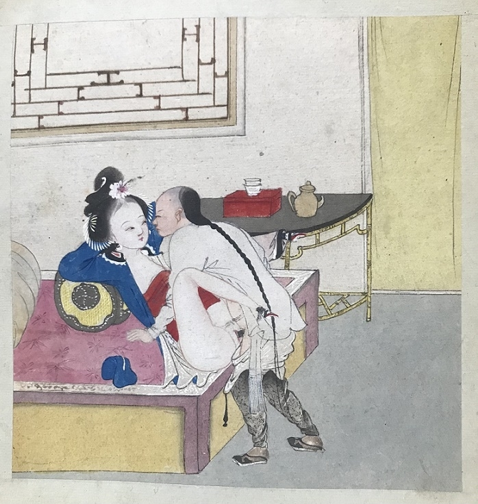 Chinese erotic painting pigtail