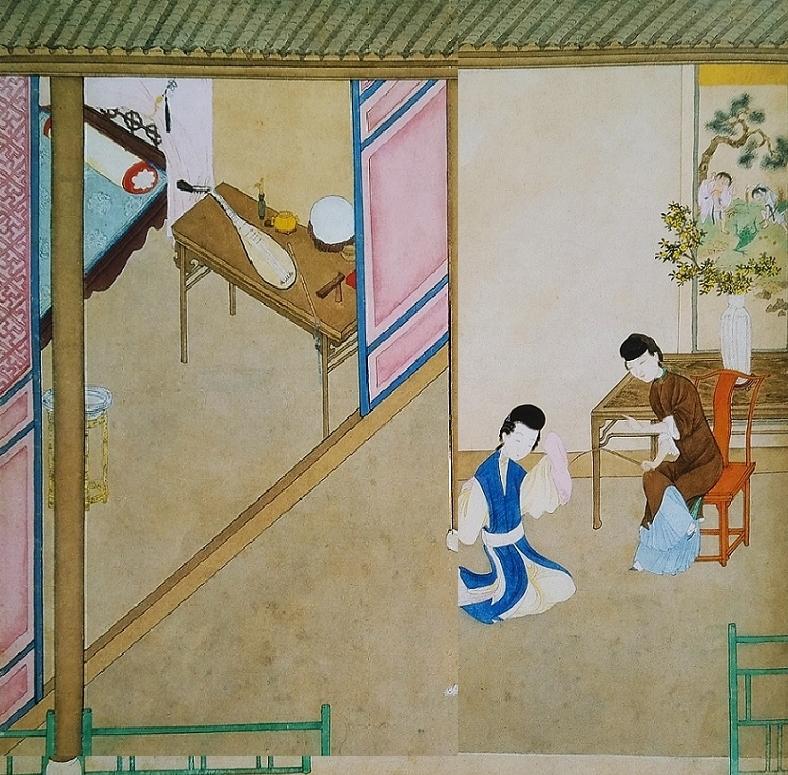 Chinese painting erotic jou pu tuan
