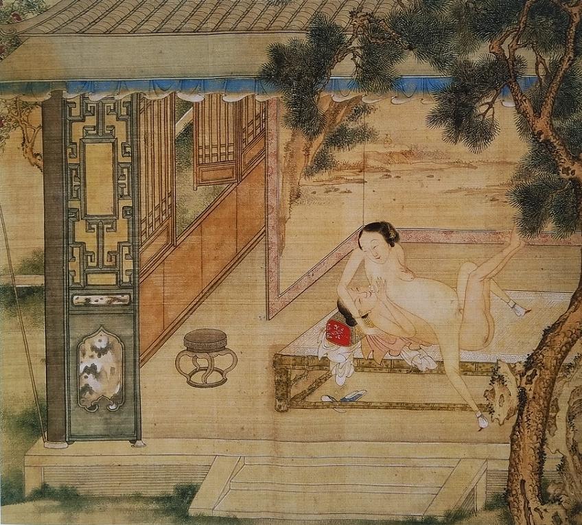 Chinese sensual art painting