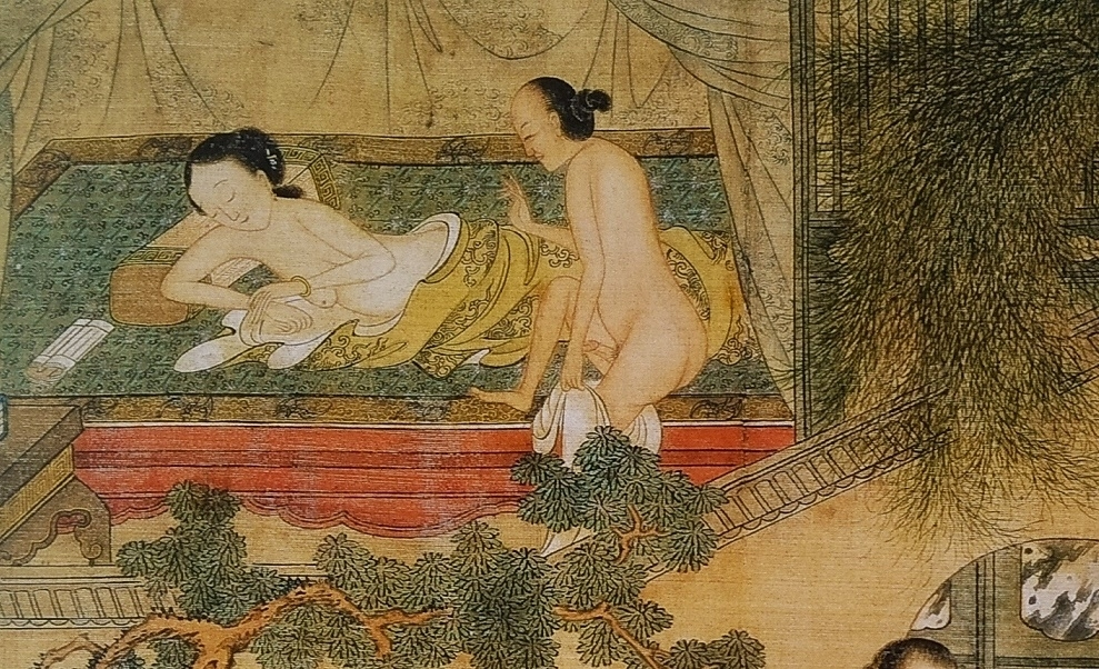 close up 1 Chinese erotic painting