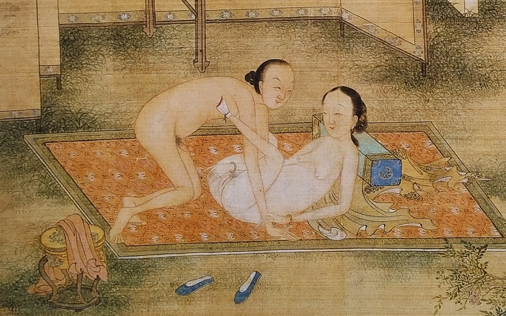 close up 2 Chinese erotic painting
