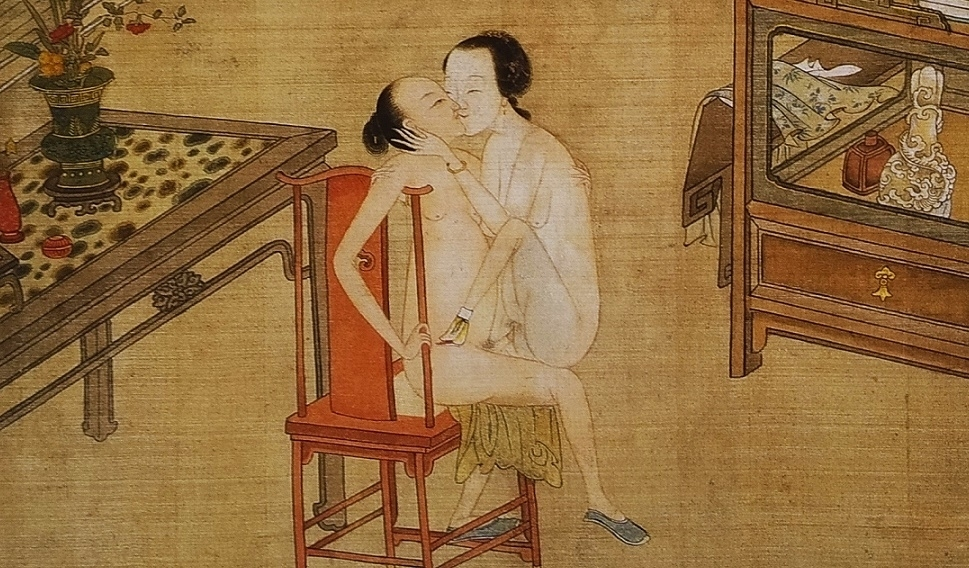 close up 3 Chinese erotic painting