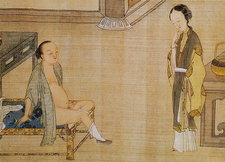 close up 4 Chinese erotic painting