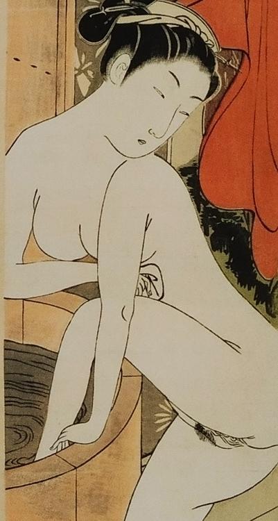 close up bathing woman