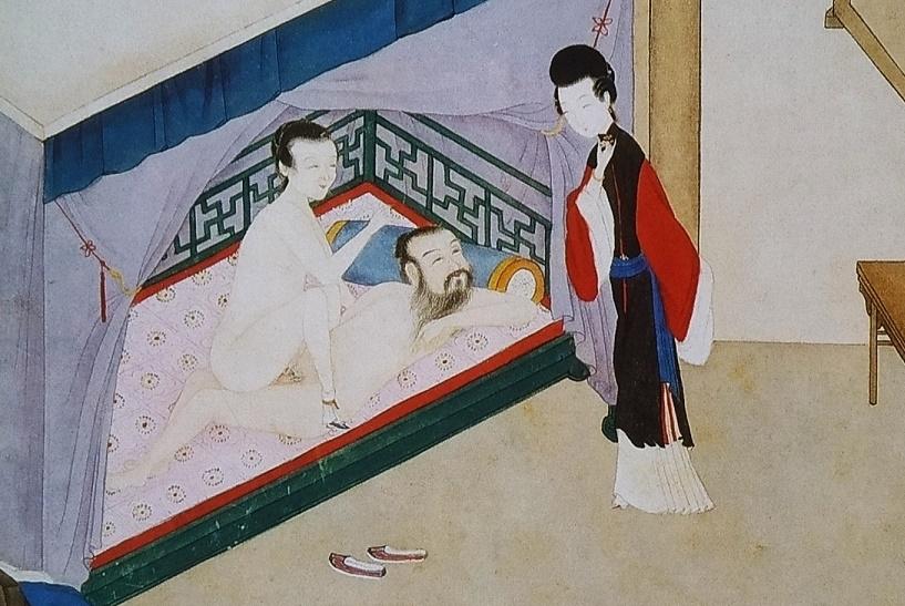 close up intimate brothel keeper Chinese erotic