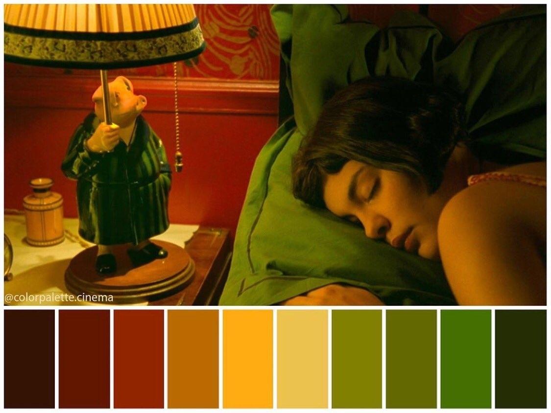 color palette Amelie film