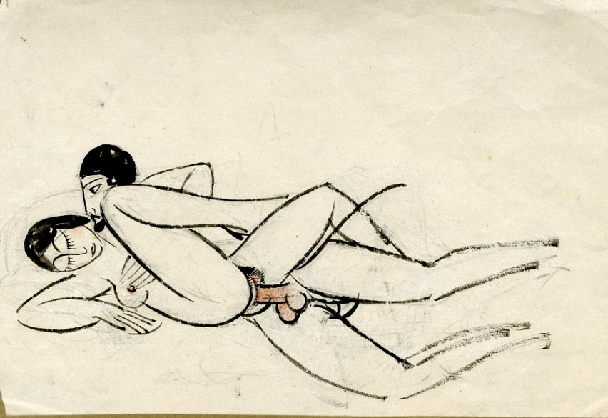 Copulating couple by Eric Gill