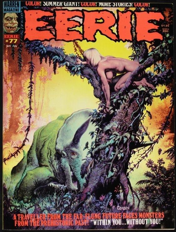 corben Front cover of 'Eerie #77'