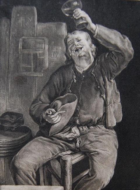 Cornelis Dusart Drunken Man