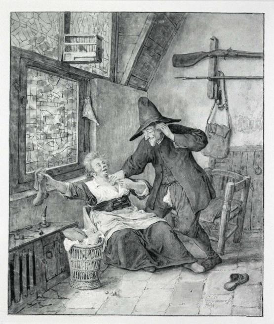Cornelis Dusart frivolous scene