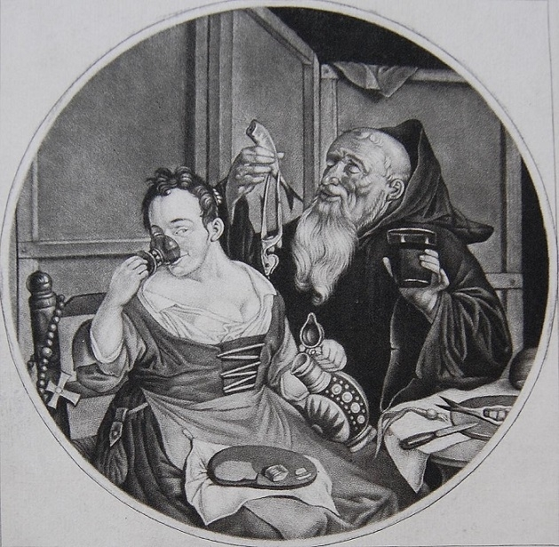 Cornelis Dusart Monks in conclave