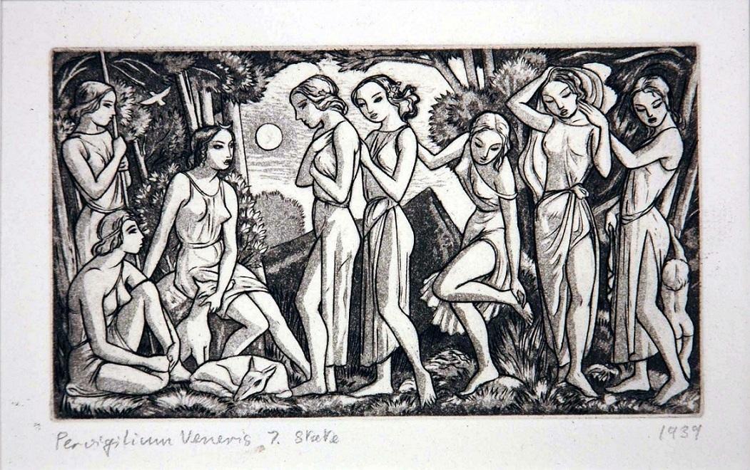Diana with her companions john buckland