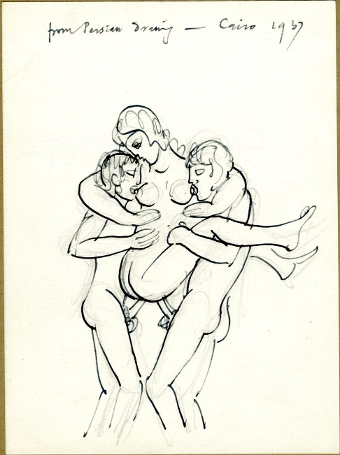 Double Penetration by Eric Gill