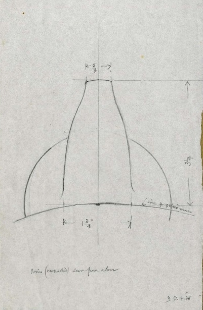 Draft of a penis by Eric Gill